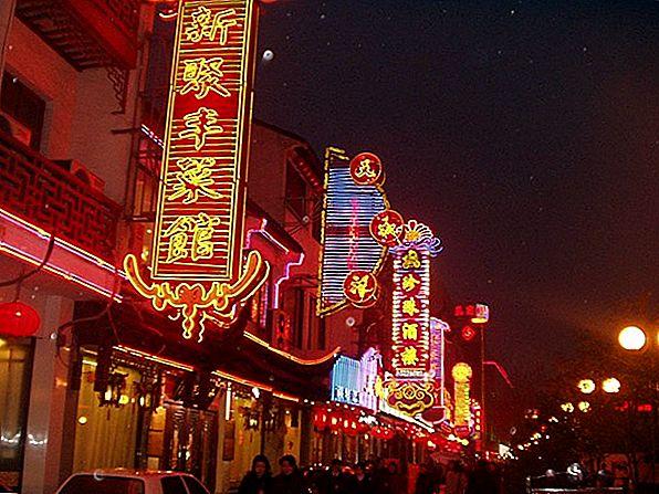 写真の夜の中国