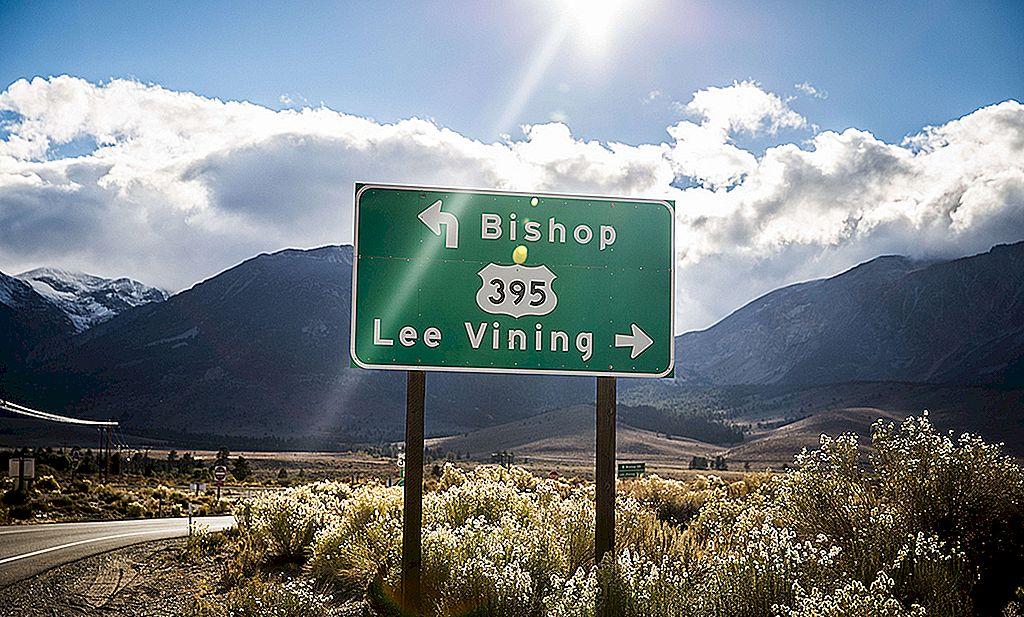 395号道路の最高値と最低値は、カリフォルニア州の最上級道路