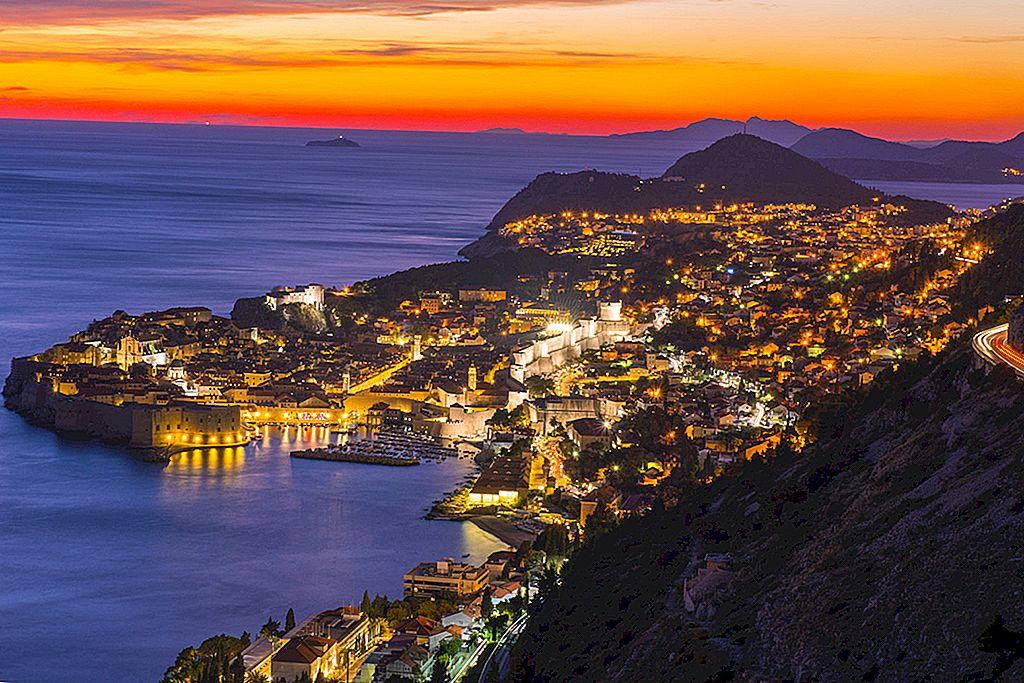 10 peisaje spectaculoase de soare în Dubrovnik