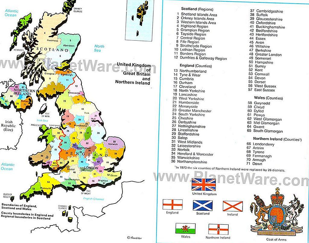 Regatul Unit Al Marii Britanii și Al Irlandei De Nord Harta